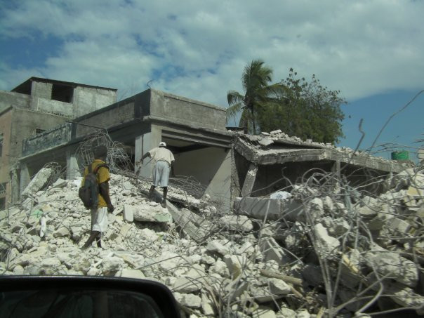 Arriving via UN convoy to Port au Prince after the earthquake