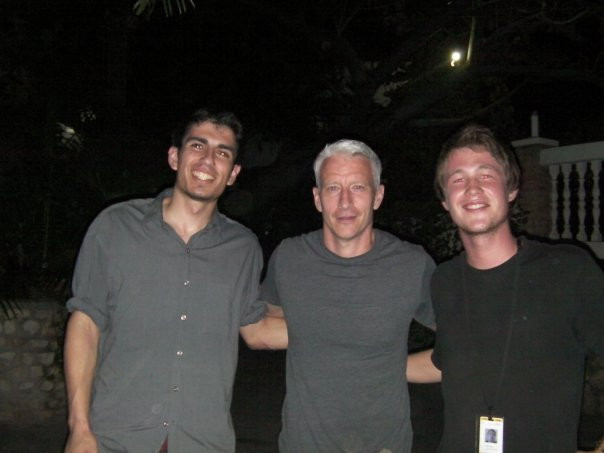 Meals with CNN staff after Haiti earthquake in 2010