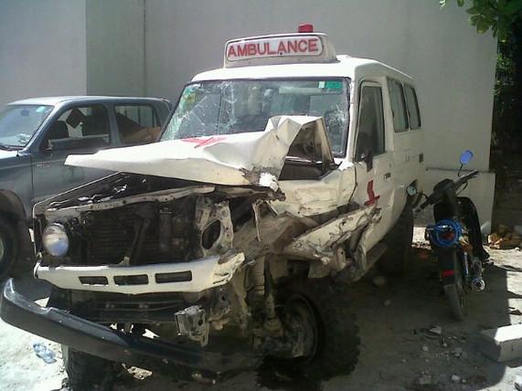 Ambulance in Haiti