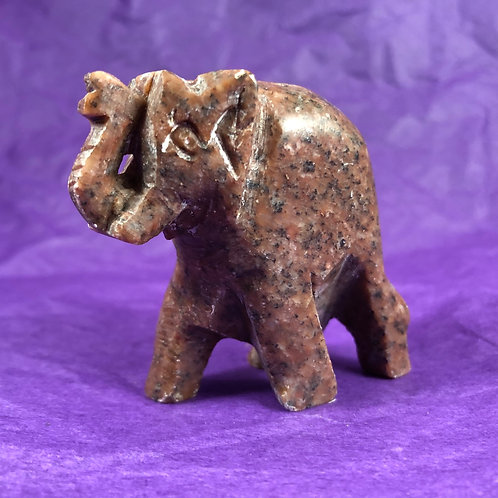 Soapstone Elephant Figure