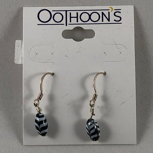 Blue with White Stripes earrings