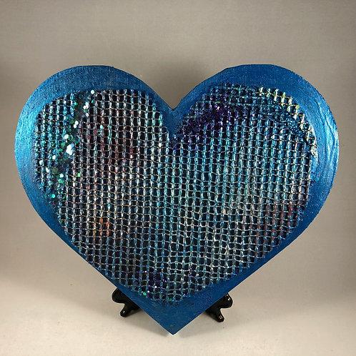 Sea Blue Mesh heart
