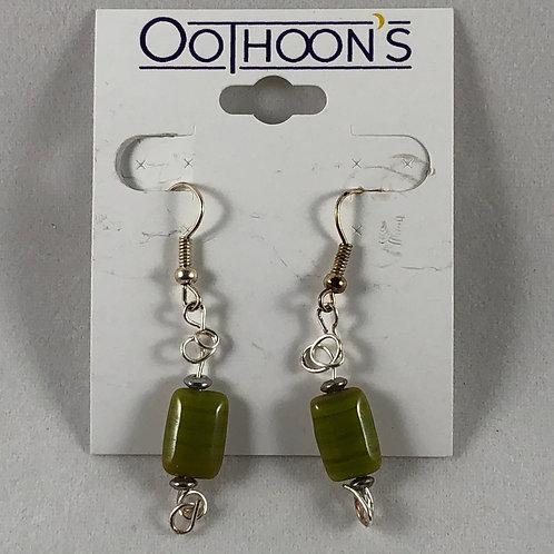 Banded Green earrings