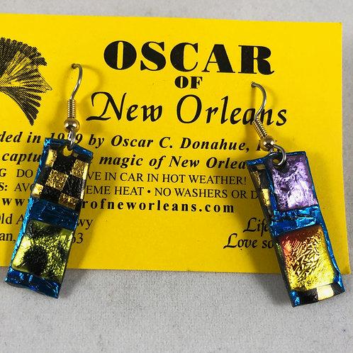 Iridescent Rectangle earrings