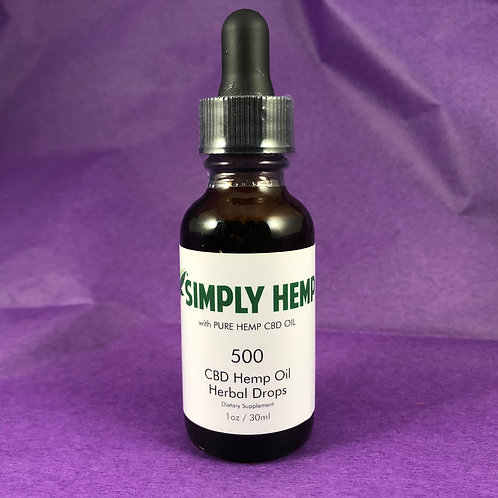 CBD Hemp Oil Herbal Drops 500