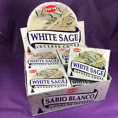 White Sage Incense Cones