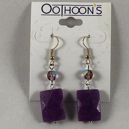 Cut Amethyst earrings