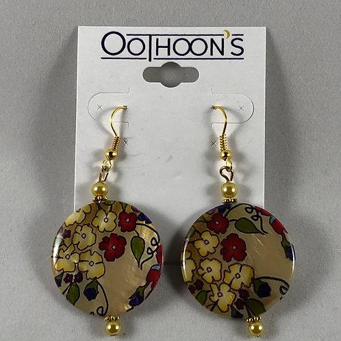 Floral Disk earrings