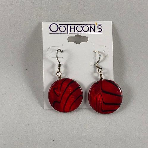 Red Disk earrings