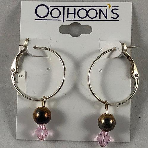 Hoop and Bead earrings