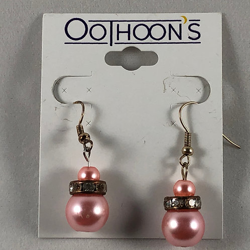 Fancy Pink Pearl earrings