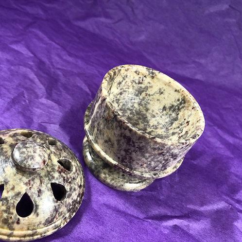 Soapstone Incense Pot