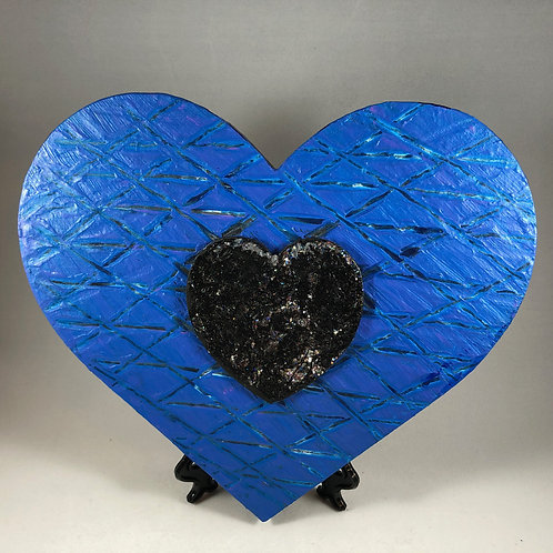 Blue and Black heart