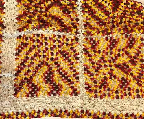 Brick Gold and Heather Afghan