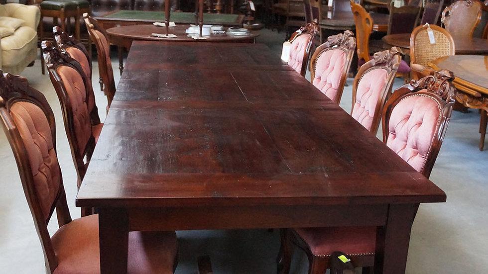 Трапезна маса тик комплект с 8 стола