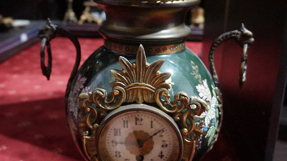 Каминен часовник порцелан