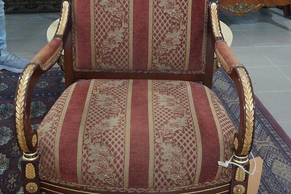 Трапезен Стол с бронзови орнаменти