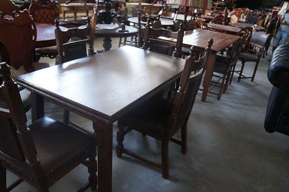 Сгъваема масивна маса с 4 стола
