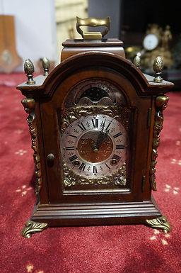 Каминен часовник дърво бронз