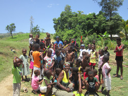 Play time with the village kids