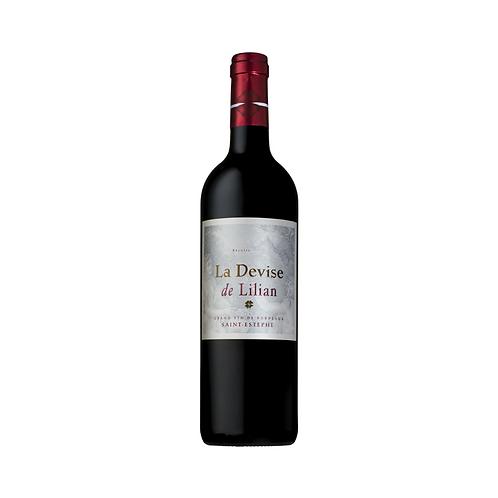 La Devise de Lilian - 2e Wijn L. Ladouys -  Saint-Est�phe 2017 - 75 cl
