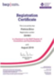 BACP Registration - Patricia Brice (3049
