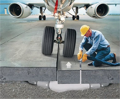 Commercial concrete lifting services. Raise concrete slabs and fix any commercial property