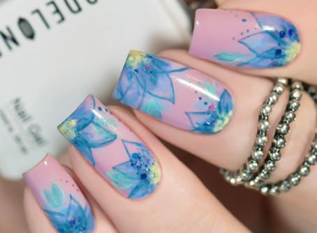 Handpainted Floral Design