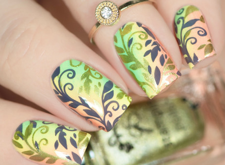 CLEAR JELLY STAMPER Layered Stamping Nail Art