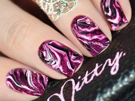MARBLE NAIL ART with regular nail polish