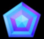Hexagon under influence of blue light