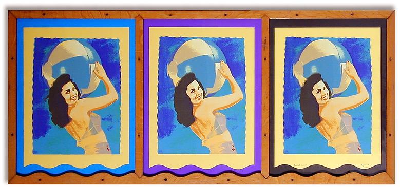 Triple Beachball Girl  -1974