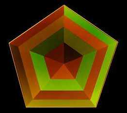 Hexagon under influence of green light