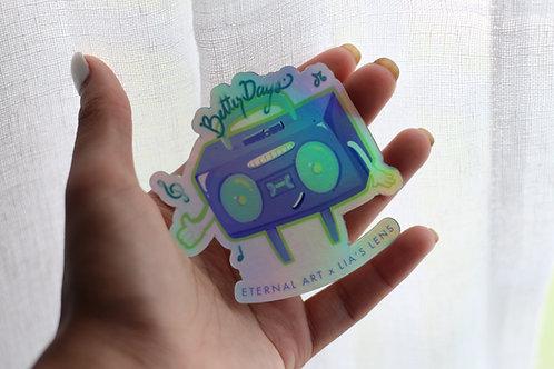 Boom Box Sticker - Holographic