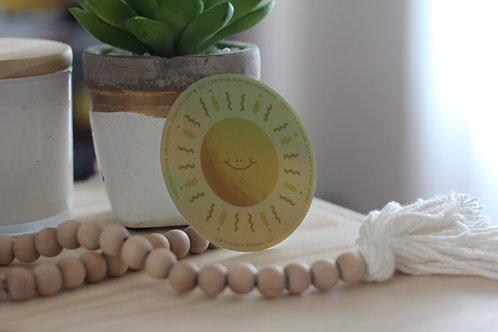 Happy Sun Sticker - Holographic