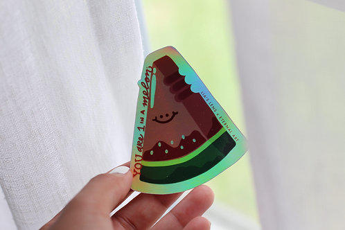 Watermelon Sticker - Holographic