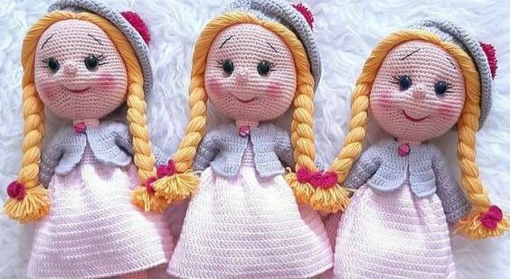 10 Receitas Bonecas Amigurumi de Crochê Grátis | 309x564