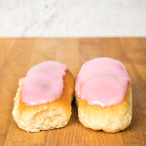 Warings Pink Iced Buns x 2