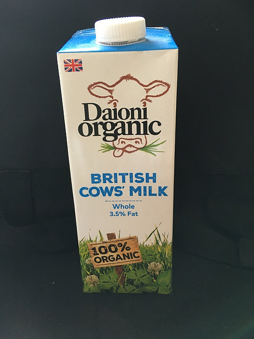 SR Long Life Organic Full Fat Milk 1 Litre