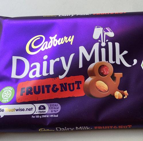 SR Cadbury's Fruit & Nut 200g Large Bar