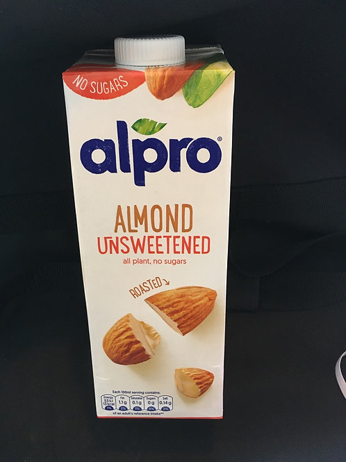SR Alpro almond milk unsweetened long life  1 litre