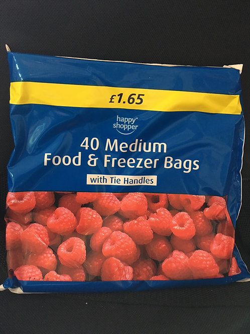 SR 40 medium freezer bags 250mm x 480mm