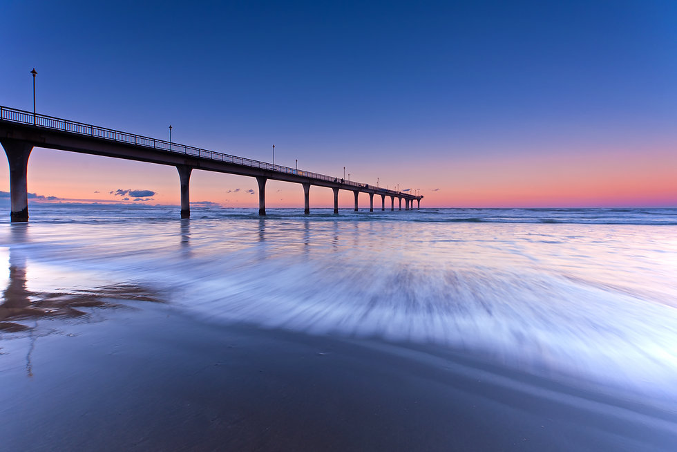 Long Exposure wave New Brighton Beach Vi