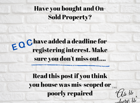 Did you buy an on-sold property through the EQR/EQC programme? You better read this....