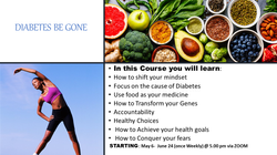 DIABETES BE GONE Promotional materials M