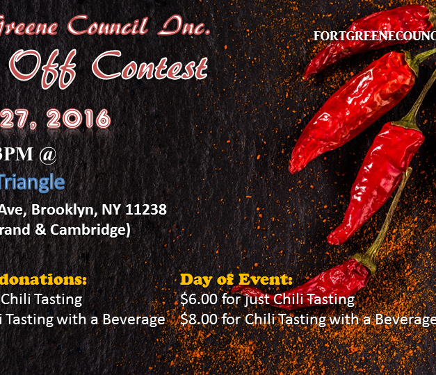Fort Greene Council Chili Off Back