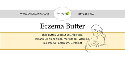 Exzema Butters Labels 1.5 inches by 4 in