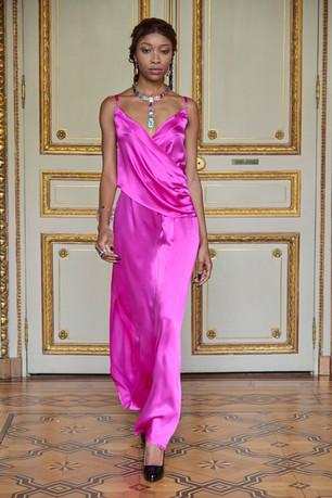 Fuchsia slip dress