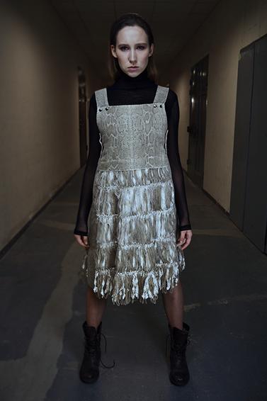 fabric scraps dress