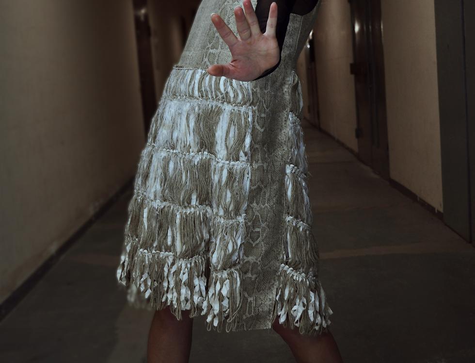 Fabric Scrap Stiff Jumper Dress